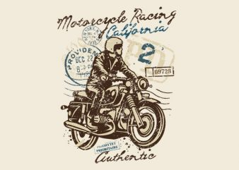 Motorcycle Racing design for t shirt
