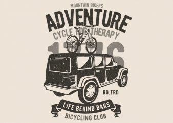 Mountain Bikers Adventure t shirt designs for sale