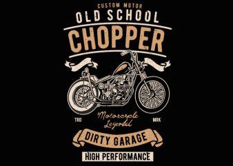 Old School Chopper t shirt design online