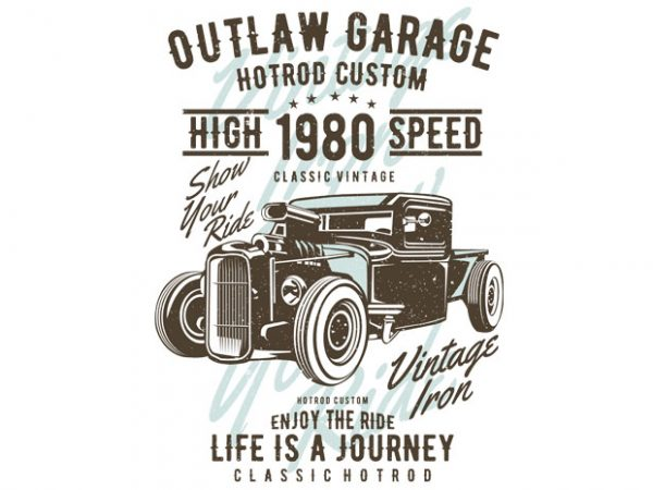 Outlaw Garage t shirt design online
