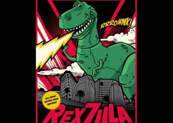 REXZILLA vector t-shirt design
