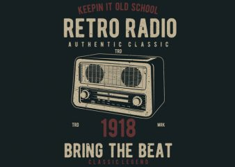 Retro Radio buy t shirt design artwork