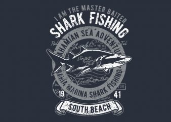 Shark vector t-shirt design template