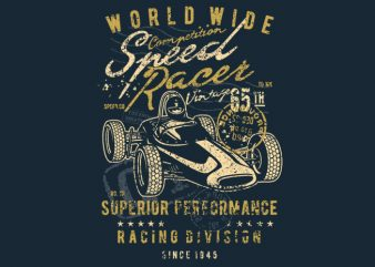 Speed Racer Vintage t shirt design png