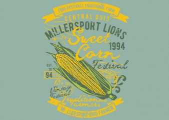 Sweet Corn vector t-shirt design for commercial use