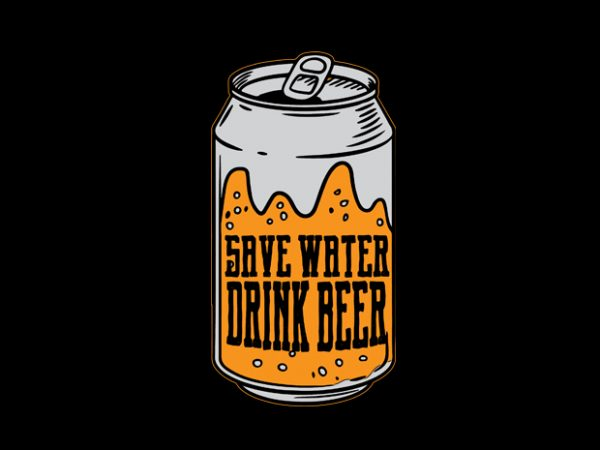 beer can Vector t-shirt