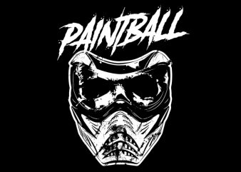 Paintball skull Vector t-shirt design