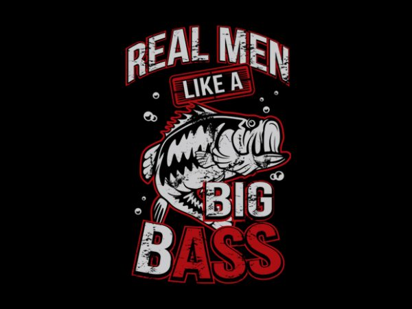 Bass vector t-shirt design template