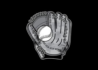 Baseball Glove Vector t-shirt design