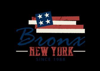 Bronx2 vector t shirt design artwork