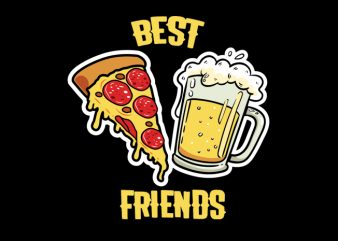 best frineds Vector t-shirt design