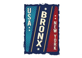 Usa Bronx New York t shirt design png