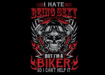 sexy biker design for t shirt