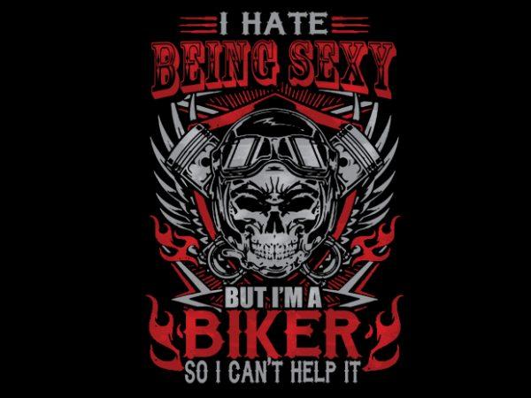 sexy biker t shirt template vector