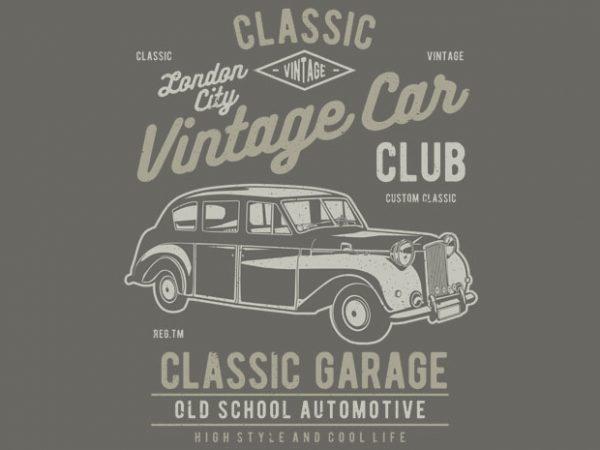 Vintage London Car t shirt vector art
