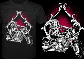Biker Doll t shirt template