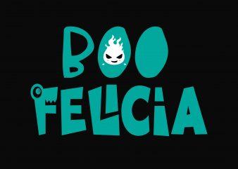 Boo Felicia vector shirt design