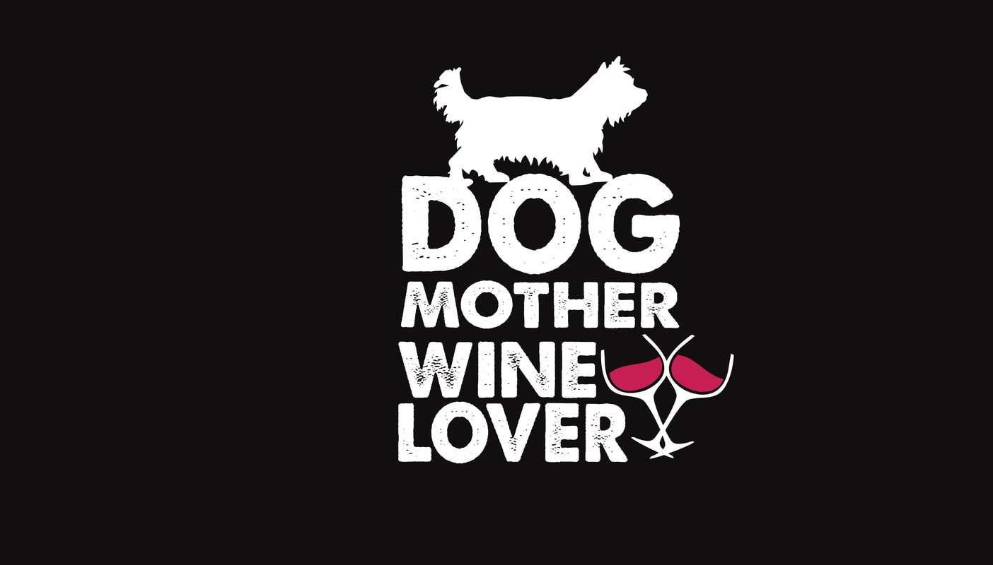 Dog Mother Wine Lover Vector T Shirt Design Buy T Shirt Designs