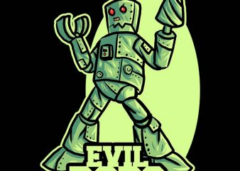 evil robo tshirt design