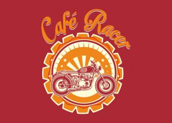 cafe racer badge t shirt vector file