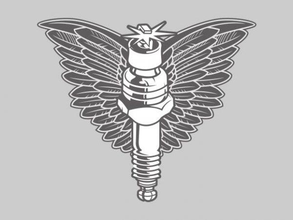 spark plug vector shirt design