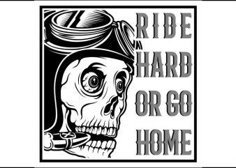 skull cafe racer t shirt design png