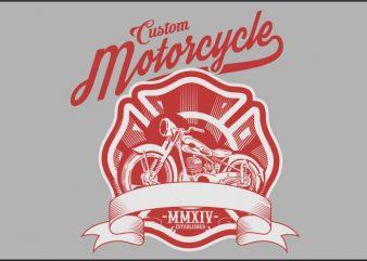 custom motorcycle vector t-shirt design
