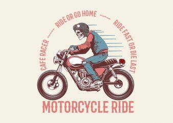 vintage motorcycle t shirt vector art