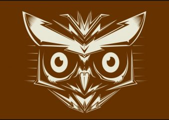 head off owl vector t-shirt design template