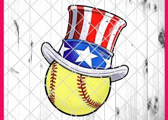Baseball Softball America Flag Lincoln Hat USA Flag T shirt 4th of July Vintage Design PNG Shirt