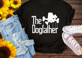 The Dog Father T shirt Dog Lover Design PNG