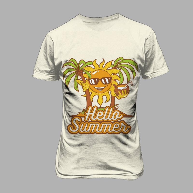 hello summer commercial use t shirt designs