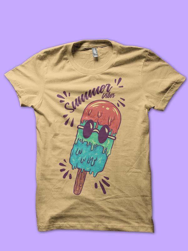 summer ice cream tshirt design t shirt designs for sale