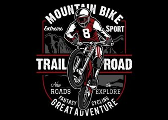 Mountain Bike buy t shirt design for commercial use