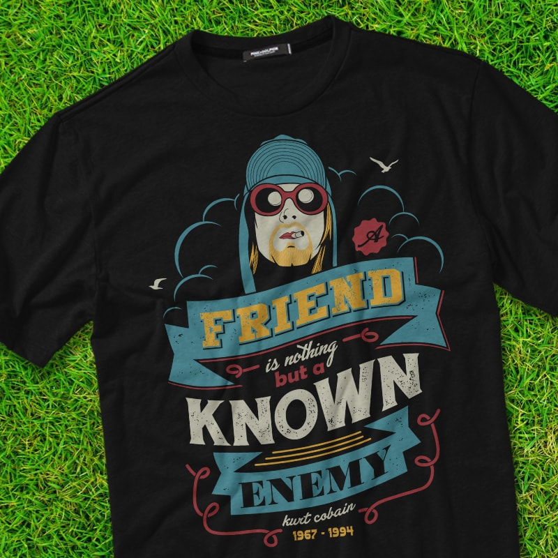 KURT COBAIN t-shirt designs for merch by amazon