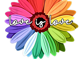 Love Is Love Flower Rainbow T shirt Design PNG