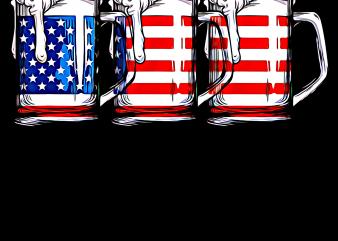Beer America Flag T shirt – Drink Beer Merica USA Flag PNG T shirt