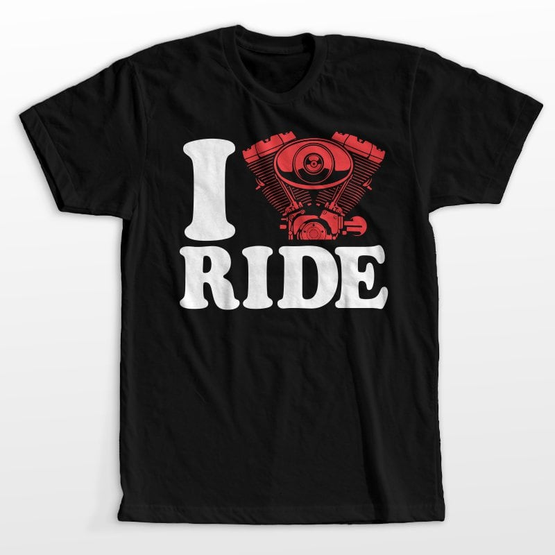 I love ride t shirt designs for teespring