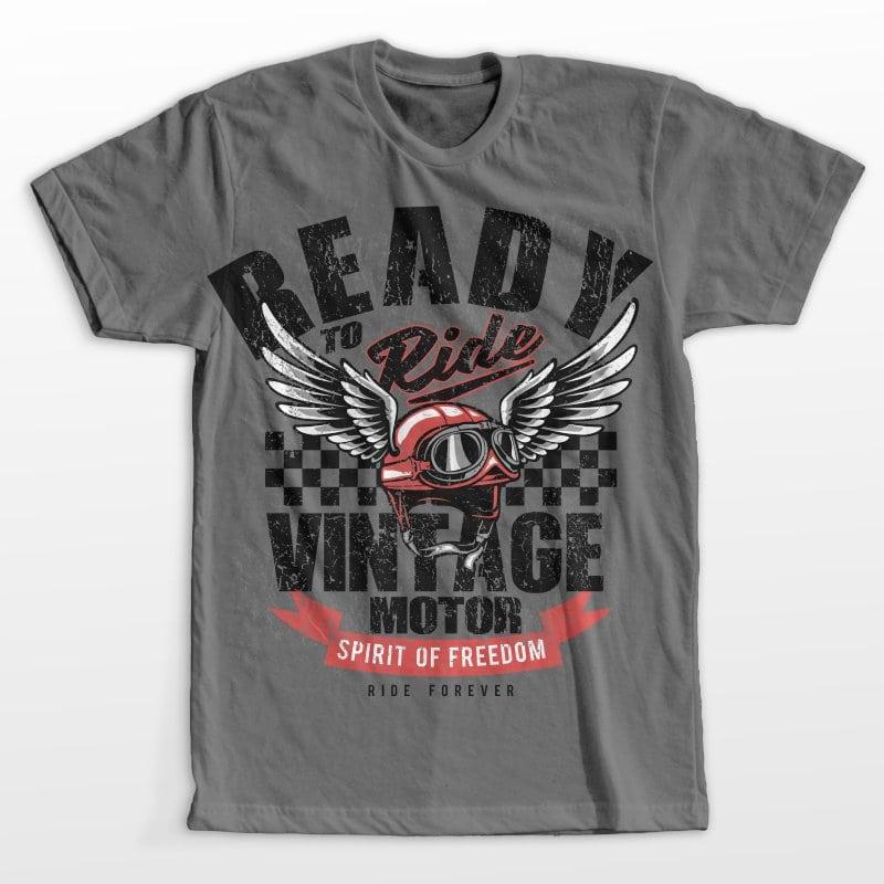 Vintage motor helmet commercial use t shirt designs