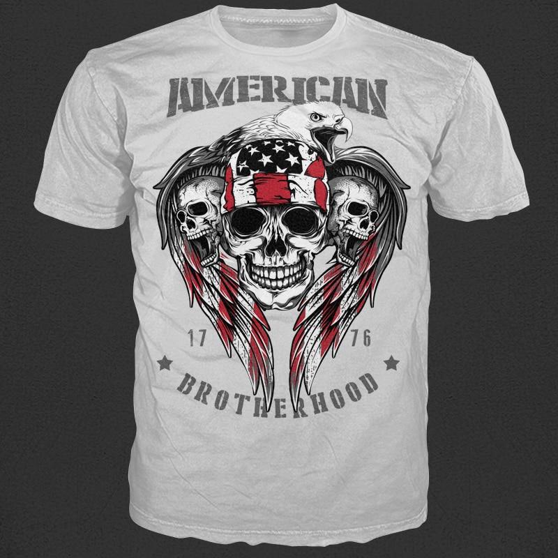 American Brotherhood 1776 t shirt designs for merch teespring and printful