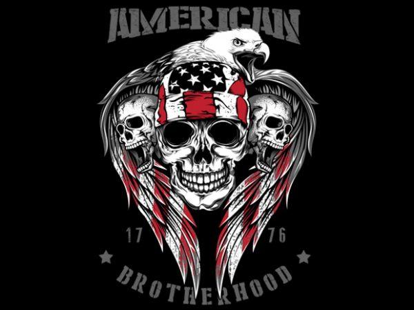 American Brotherhood 1776 print ready vector t shirt design