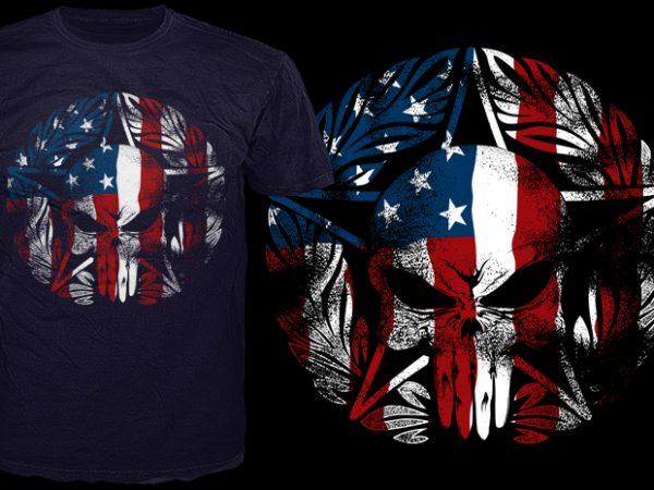 America's corp graphic t-shirt design