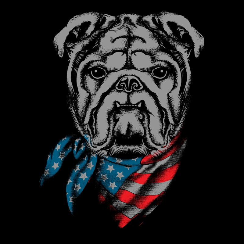 4th july dog present t shirt designs for printify