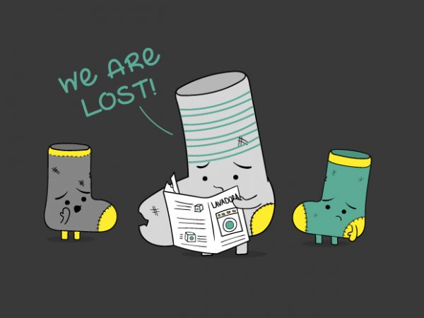 We are Lost socks t shirt design to buy