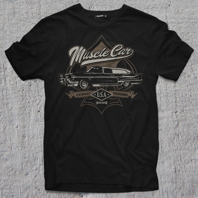 MUSCLE CAR tshirt designs for merch by amazon