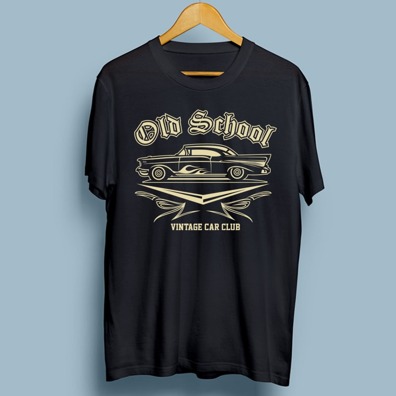OLD SCHOOL t shirt designs for sale