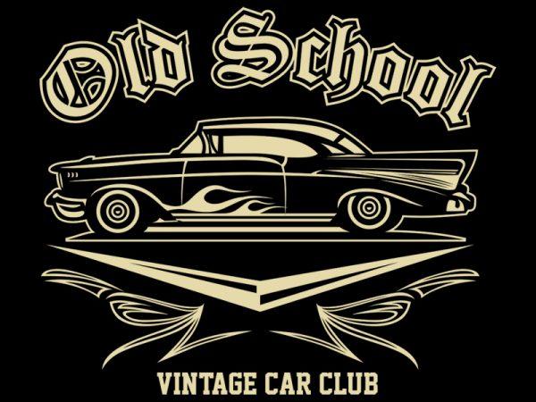 OLD SCHOOL tshirt design vector