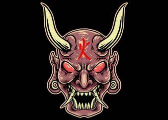 fire devil tshirt design