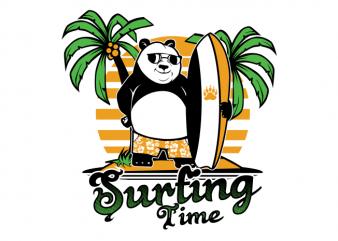 panda surfing buy t shirt design