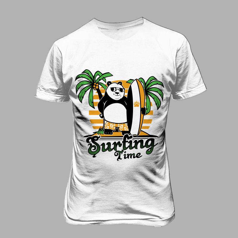 panda surfing buy tshirt design